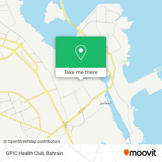 GPIC Health Club map