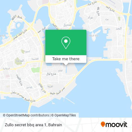 Zullo secret bbq area 1 map