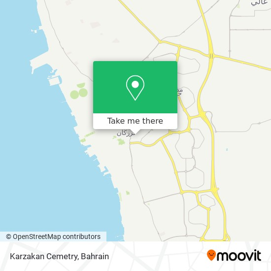 Karzakan Cemetry map