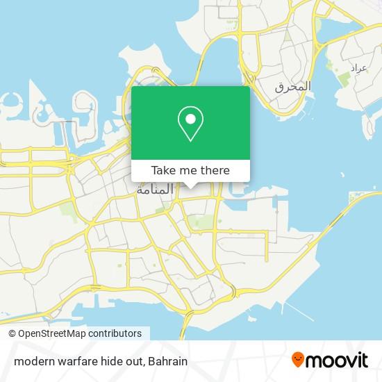 modern warfare hide out map