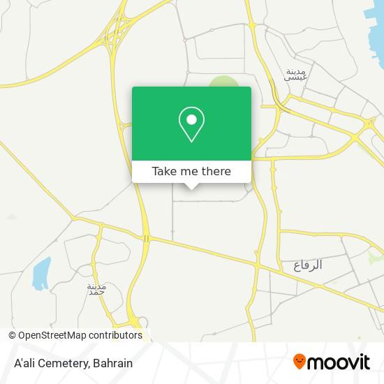 A'ali Cemetery map