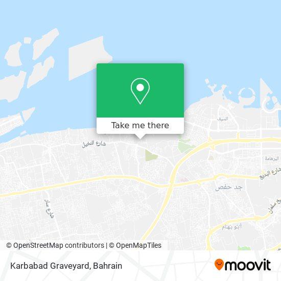 Karbabad Graveyard map