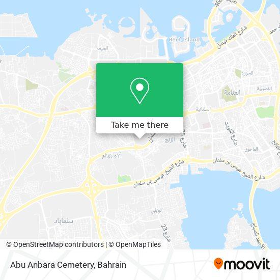 Abu Anbara Cemetery map