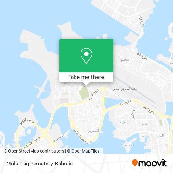 Muharraq cemetery map