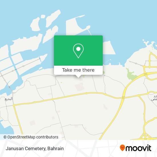 Janusan Cemetery map