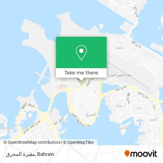 مقبرة المحرق map