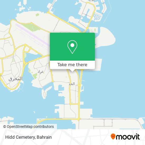 Hidd Cemetery map