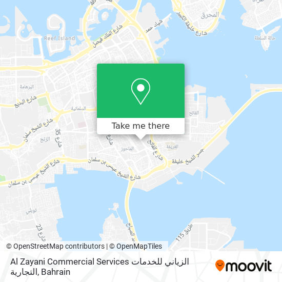 Al Zayani Commercial Services الزياني للخدمات التجارية map