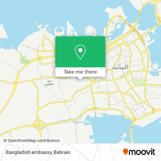 Bangladish embassy map