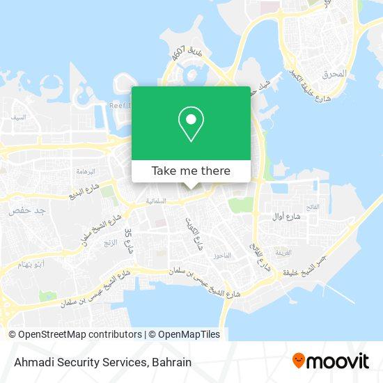 Ahmadi Security Services map
