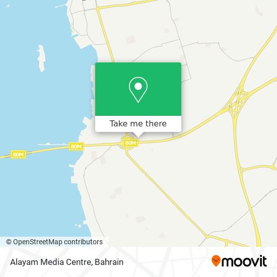 Alayam Media Centre map