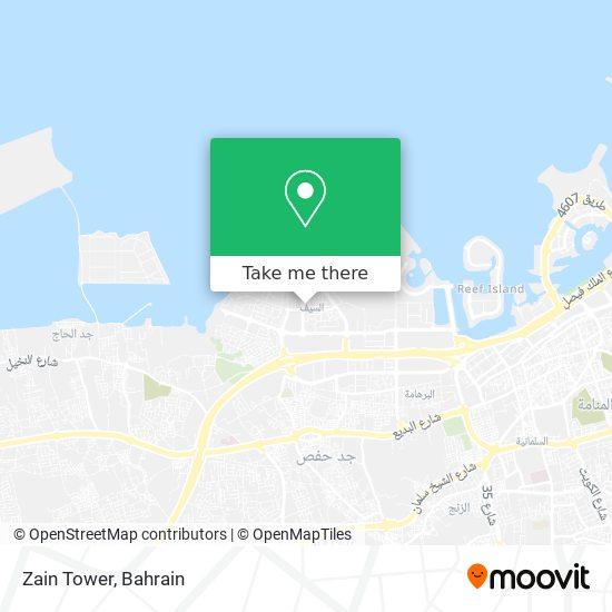 Zain Tower map