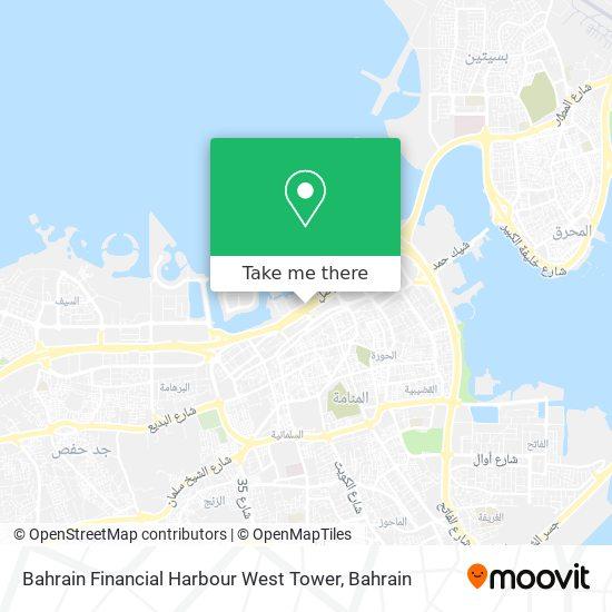 Bahrain Financial Harbour West Tower map