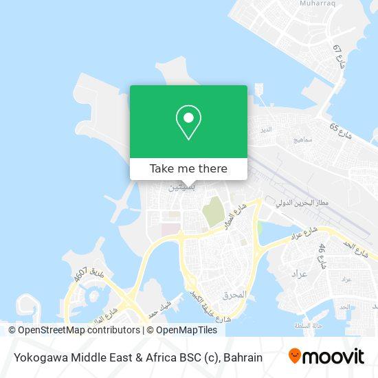 Yokogawa Middle East & Africa BSC map