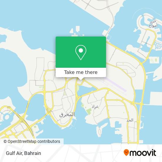 Gulf Air map