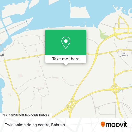 Twin palms riding centre map