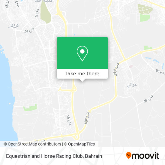Equestrian and Horse Racing Club map
