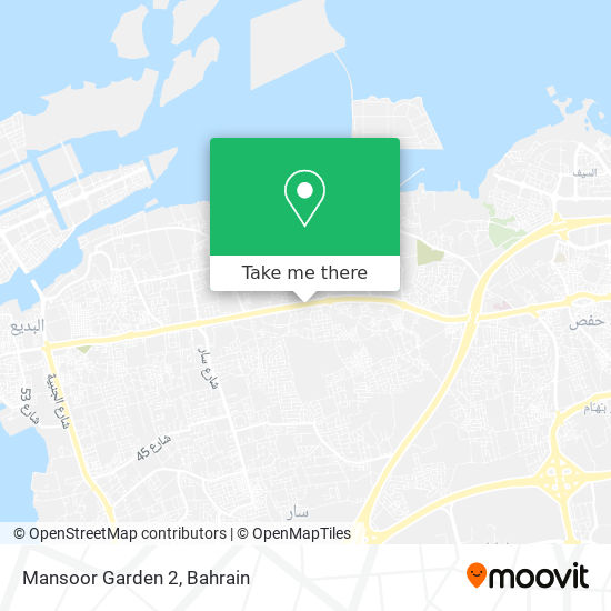 Mansoor Garden 2 map