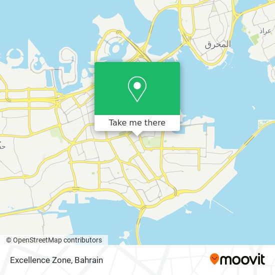Excellence Zone map