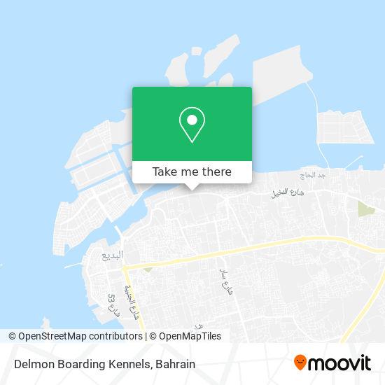 Delmon Boarding Kennels map