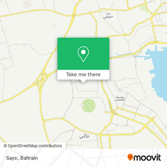 Says: map