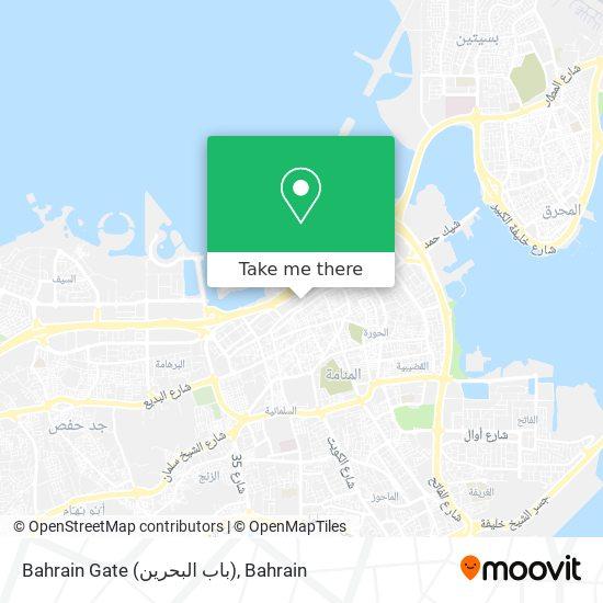 Bahrain Gate (باب البحرين) map
