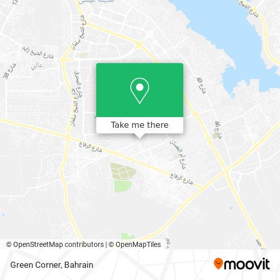 Green Corner map