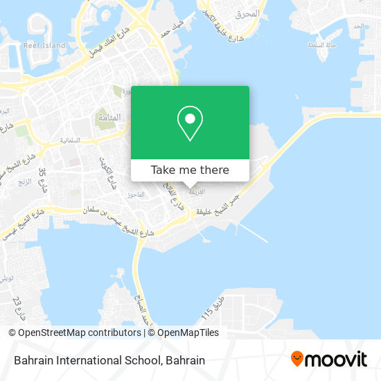 Bahrain International School map