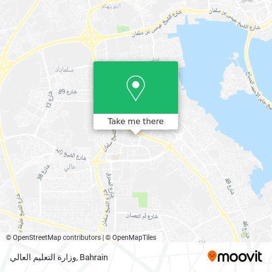 وزارة التعليم العالي map