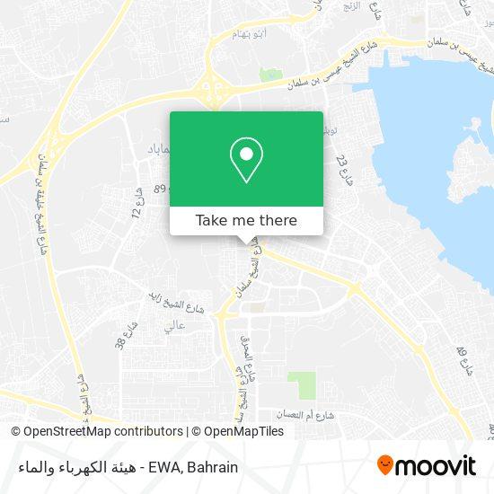 هيئة الكهرباء والماء - EWA map