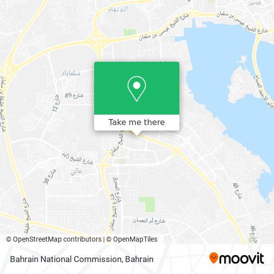 Bahrain National Commission map