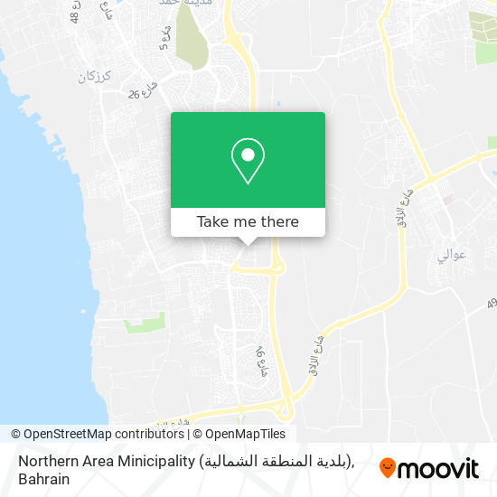 Northern Area Minicipality (بلدية المنطقة الشمالية) map