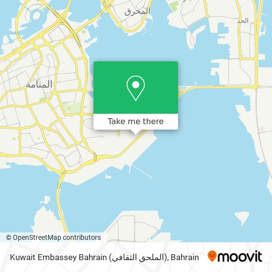 Kuwait Embassey Bahrain (الملحق الثقافي) map