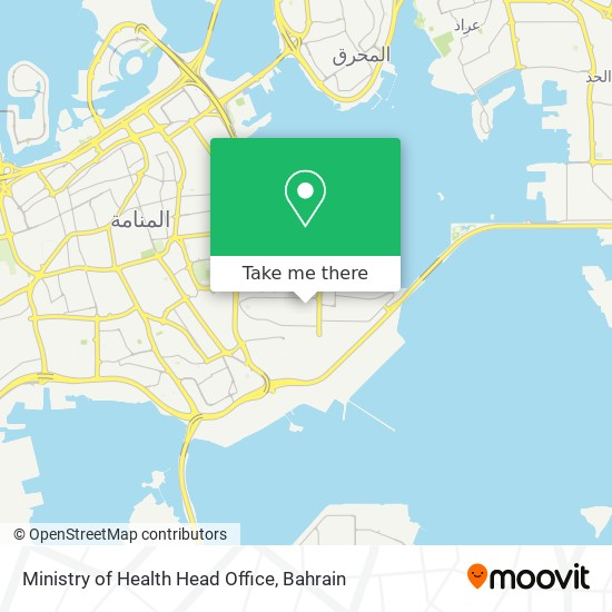 Ministry of Health Head Office map