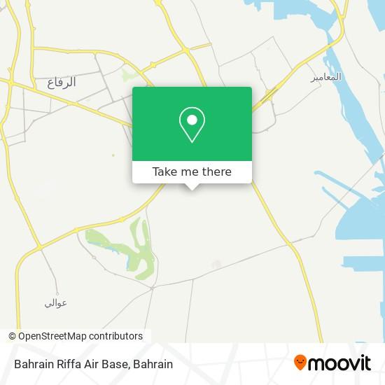 Bahrain Riffa Air Base map
