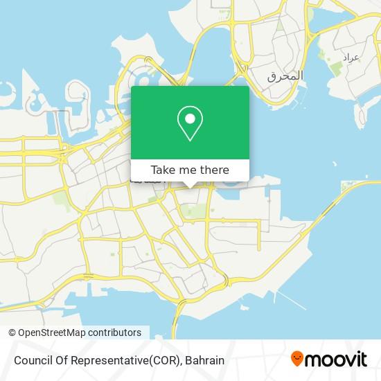 Council Of Representative(COR) map