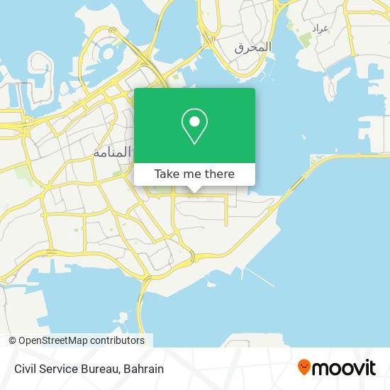 Civil Service Bureau map