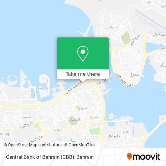 Central Bank of Bahrain (CBB) map