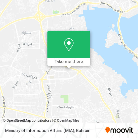 Ministry of Information Affairs (MIA) map
