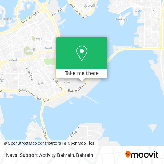Naval Support Activity Bahrain map