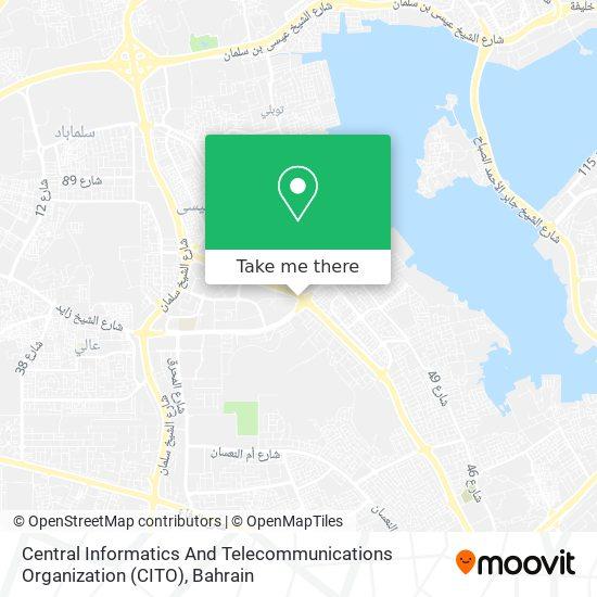 Central Informatics And Telecommunications Organization (CITO) map