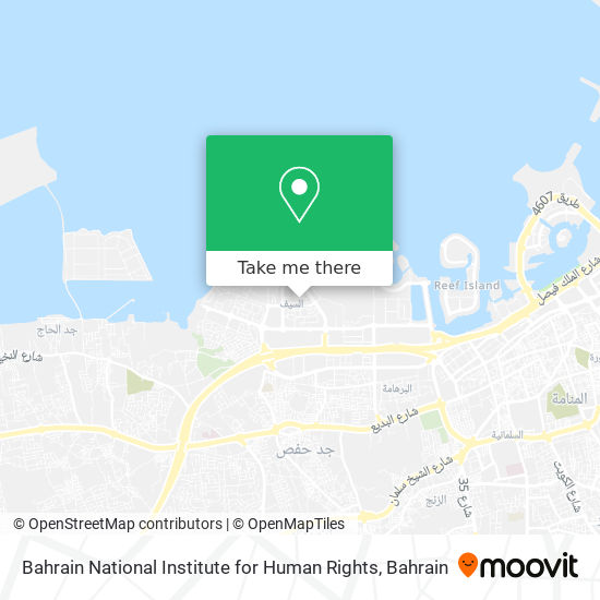 Bahrain National Institute for Human Rights map