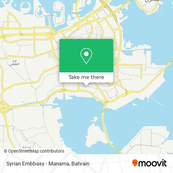 Syrian Embbasy - Manama map