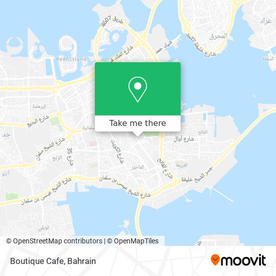 Boutique Cafe map