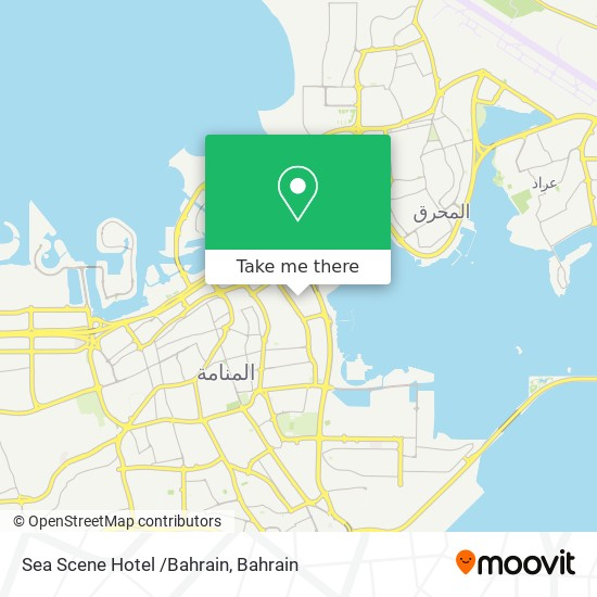 Sea Scene Hotel /Bahrain map