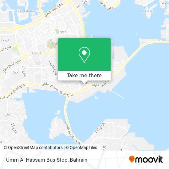 Umm Al Hassam Bus Stop map