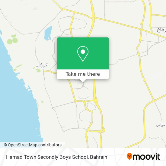 Hamad Town Secondly Boys School map