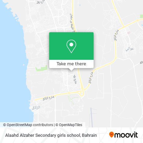 Alaahd Alzaher Secondary girls school map