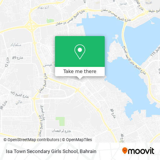 Isa Town Secondary Girls School map