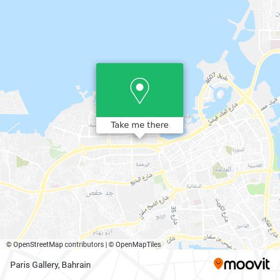 Paris Gallery map